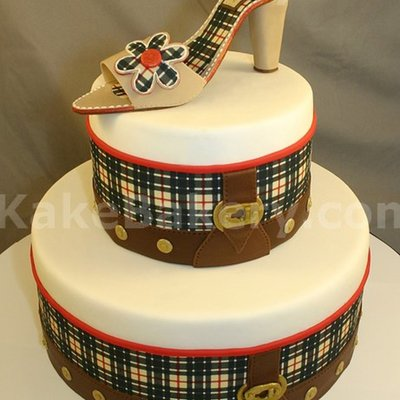 Burberry Bag Inspired Fashion Birthday Cake