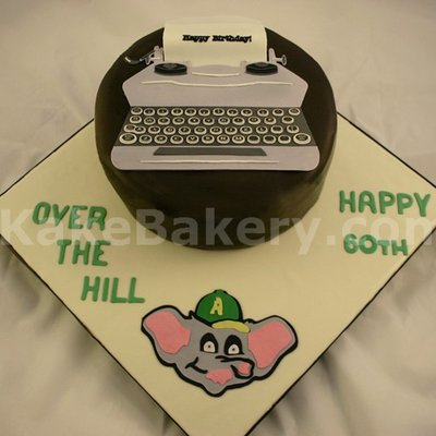 Typewritter Birthday Cake