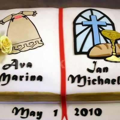 Communion And Baptism Cake