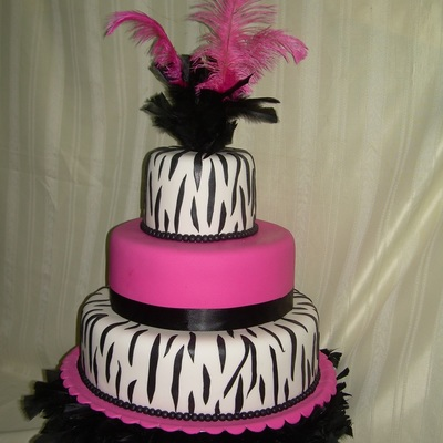 Wedding Cake With Feather.