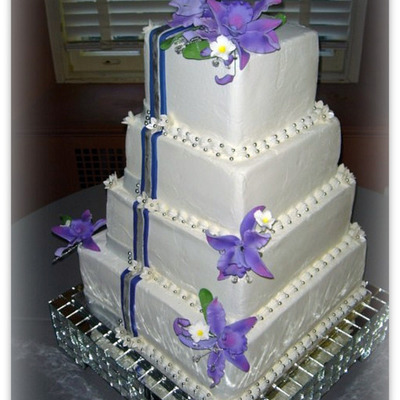 Purple Orchid Cake on Cake Central