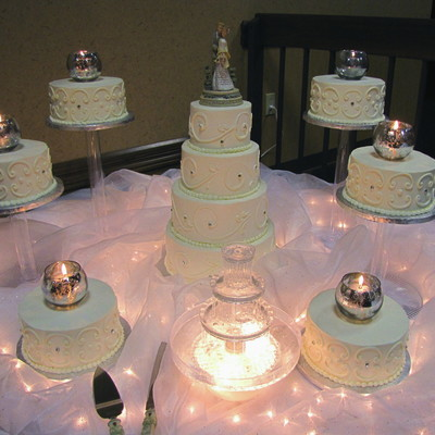 Satelitte Cascade And Stacked Cake