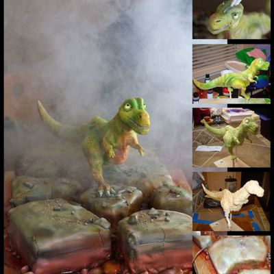 3D Trex on Cake Central