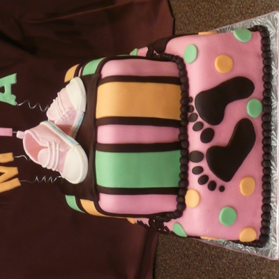 Girl Baby Shoes Cake