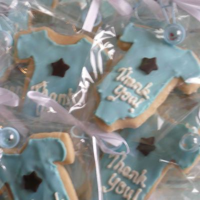 Onesie Cookies Shower Favors