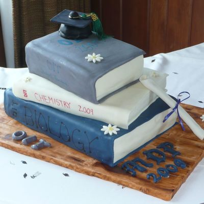 Graduation Books Cake on Cake Central