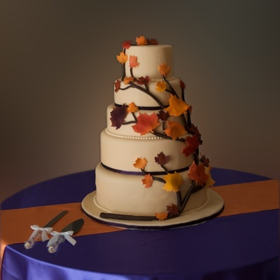 Autumn Branch Wedding Cake