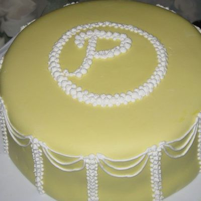 Monogram Cake From My Grandmother's Birthday