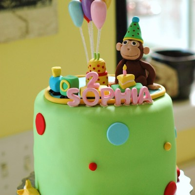 Curious George Cake And Cupcakes