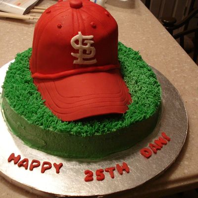 St. Louis Cardinals Hat Cake