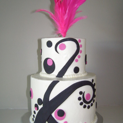 Funky Wedding Cake on Cake Central