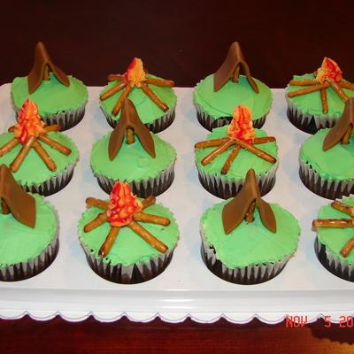 Gone C&ing Cupcakes & Camping tent Cake Decorating Photos