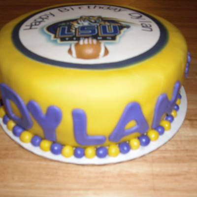 Lsu Birthday Cake