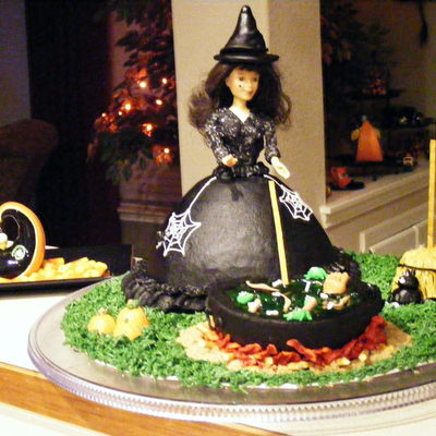 Witch And Her Caldron on Cake Central