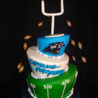 How To Make A Carolina Panthers Cake