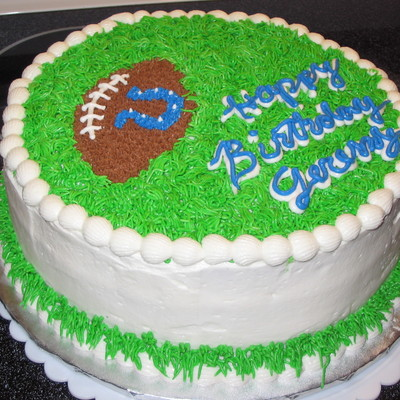Jeremy's Football Cake