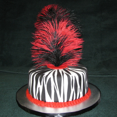 Zebra Print Bachelorette Party Cake