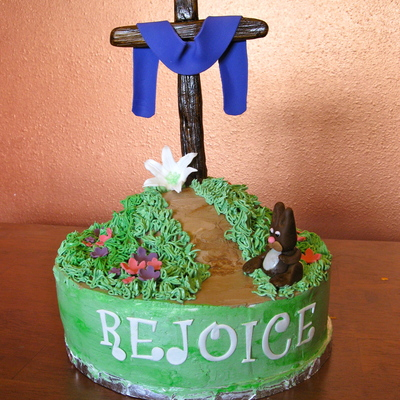 Easter Rejoice Cross Cake
