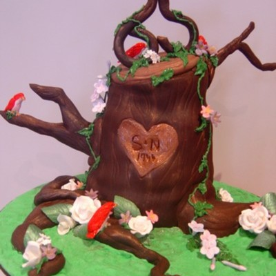 65Th Wedding Anniversary Enchanted Tree Cake