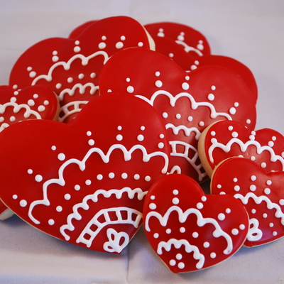 Red Valentine's Day Hearts