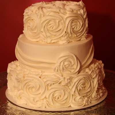 The Rose Wedding Cake on Cake Central