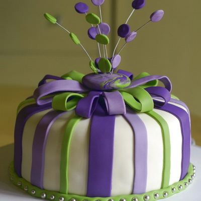 Purple And Green Cake on Cake Central