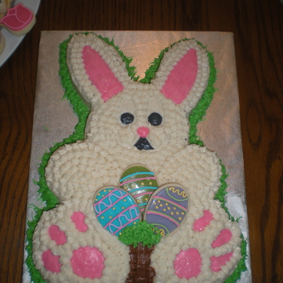 Easter Bunny Cake With Sugar Cookies