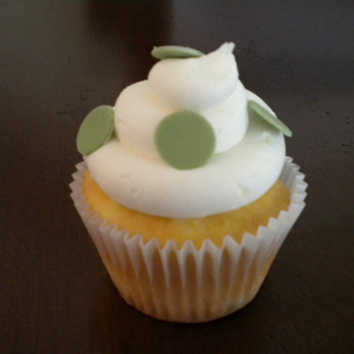 Green Polka Dot Wedding Cupcakes