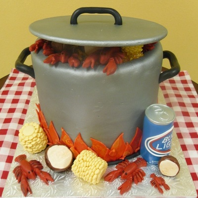 Pot Of Boiling Crawfish