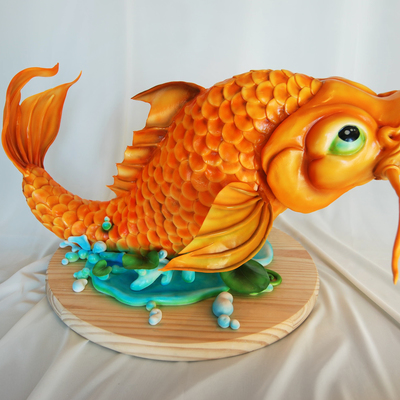Koi Fish Cake Sculpture
