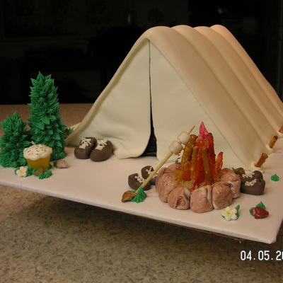 how to make a tent cake