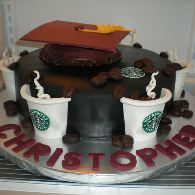 Starbucks Graduation Cake