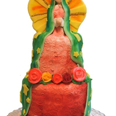 Virgin Of Guadalupe / Virgin Mary Doll Cake