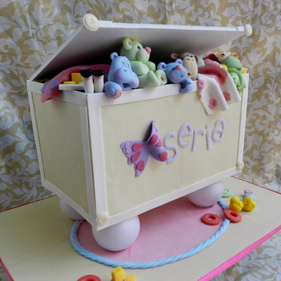 Toy Box Baby Shower Cake!