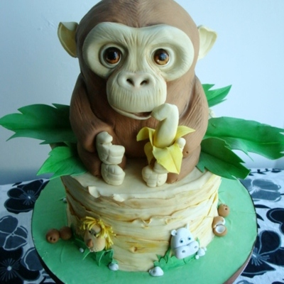 Monkey Jungle Cake!
