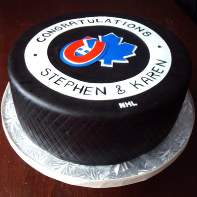 Hockey Buff Engagement Cake!