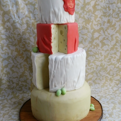 Cheese Wheel Wedding Cake!