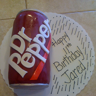 Dr. Pepper Birthday Cake