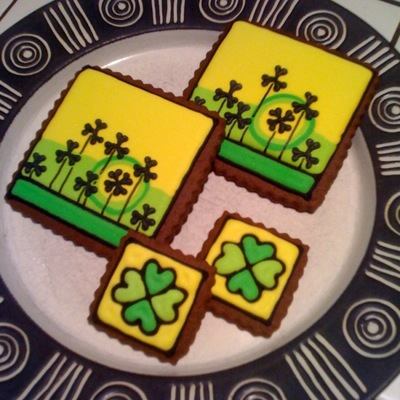 St. Pat Lucky Clover Cookies on Cake Central