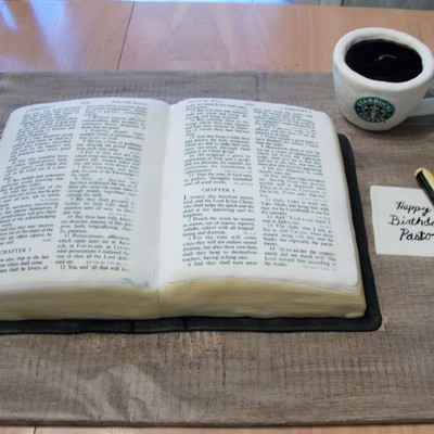 Pastor's Bible & Coffee Cake