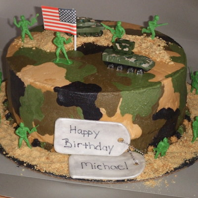 Swell Military Cakes Photos Personalised Birthday Cards Paralily Jamesorg