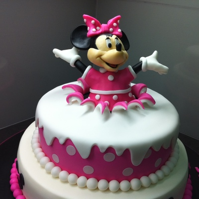 Birthday Surprise Minnie Mouse Birthday Cake