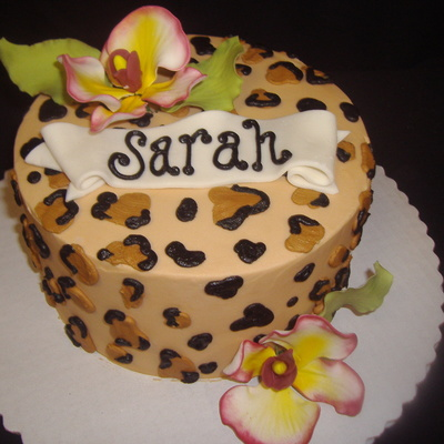 Leopard Orchid on Cake Central