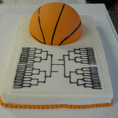 March Madness Ball And Bracket Cake