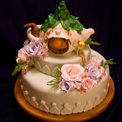 Tinkerbell Cottage Birthday Cake