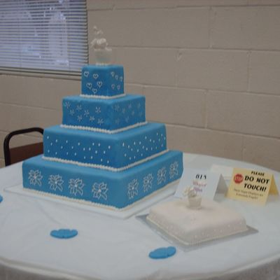 Winter Bliss Wedding Cake on Cake Central
