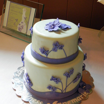 Mint & Lavender Bridal Shower Cake