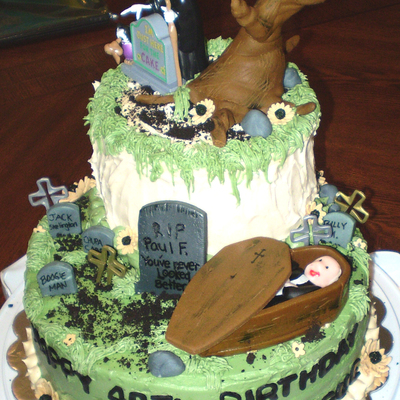 Birthday Cake For A Mortician
