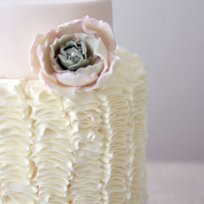 Ruffles Cake W. Cabbage Flower