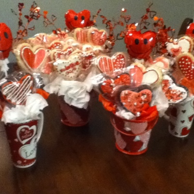 Valentine's Cookie Bouquets
